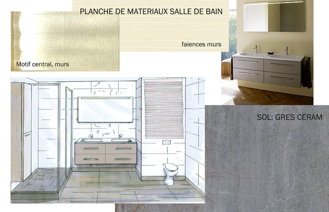 planche de materiaux salle de bain clotilde vanoye design d espace et architecture interieure. Black Bedroom Furniture Sets. Home Design Ideas