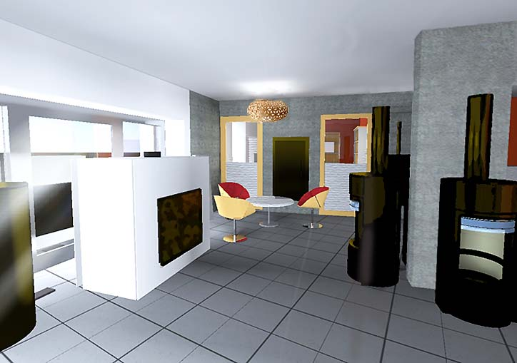 Vue 3d architecture int rieure clotilde vanoye design d for Architecture 3d vue 3d