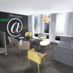 Projet d'aménagement de l'ecce coworking pep's in Champagne Epernay